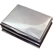 SOLD Elegant 800 Silver Hungarian Box With Light Wood Liner - Red Tag Sale Item