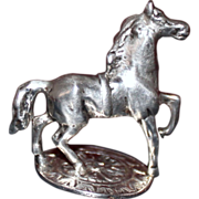 SOLD 800 Silver Horse Vintage Charmer From Germany - Red Tag Sale Item