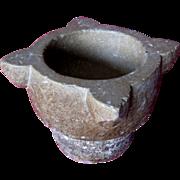 SOLD Antique Stone Mortar, Antique stone vase