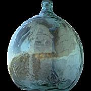 SOLD Antique Glass Demijohn, Antique Glass Carboy, Italian Glass Demijohn