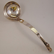 "SALE F. Ramirez Sterling ""Pea Pod"" Ladle, Sterling, Mexico"