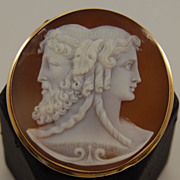 SALE Signed Shell Cameo in 18kt Frame
