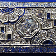 SOLD Art Deco Platinum and Diamond Broach