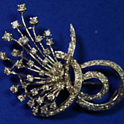 SALE Diamond Spray Pin in White Gold