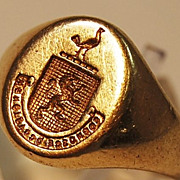 """SOLD Tiffany & Co 14kt Ladies Signet Ring """"Recognize Opportunity"""""""