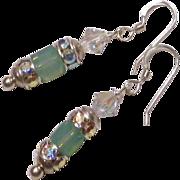 Swarovski Pacific Opal Crystal Earrings