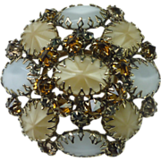 Large Domed Schreiner Brooch