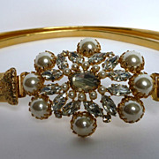 REDUCED Schreiner Pearl and Rhinestone Belt