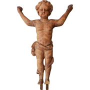 Carved Nino Wooden Alter Sculpture