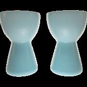 REDUCED Morgantown Glass #9935 Bristol Blue Barton Candle Holders