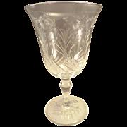 Vintage Stuart Crystal Cut Floral Stemware