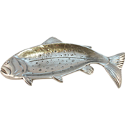 Bruce Fox Design Aluminum Ware, Rainbow Trout Serving Dish