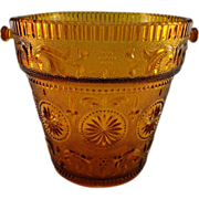 'American Concord' Amber Ice Bucket by Brockway Glass Co