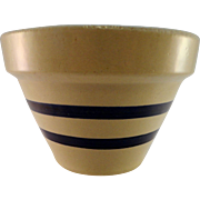 Robinson Ransbottom Blue Striped Pottery Bowl