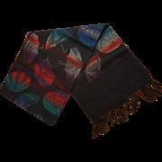 Beautiful Women's Wool Scarf, Topsy Turvy Umbrella Pattern