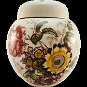 Mason's Ironstone Ginger or Tea Jar, 'Friarswood' Pattern