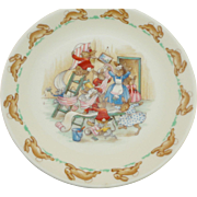 Royal Doulton Bunnykins Casino Shape Saucer for Flat Cup