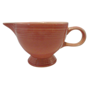 Fiesta Rose (Newer)  Individual Footed Creamer