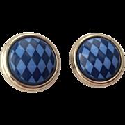 HERMES 100% Authentic Cloisonne Enamel clip on earrings