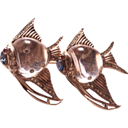 CORO 1944 sterling angel fish jelly belly duette pin brooch