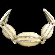 Alexis Kirk amazing enamel cream Necklace