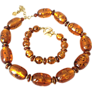 REDUCED Givenchy Tortoise color Resin Necklace and Bracelet set