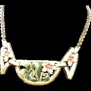 REDUCED CORO 40's enamel flower fantastic Necklace