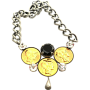 SHARRA Pagano 80's Roman Coins Chain Necklace