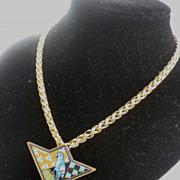 Michaela Frey TEAM Late 70's signature CHAIN necklace pendant