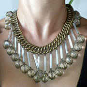 SALE PENDING RESERVED 1930's Amazing BIB style Necklace