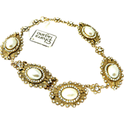 REDUCED Sharra PAGANO 80's NWT dead stock simulated pearl necklace