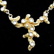 CYCLOPE Paris designer 80's Sculptural Necklace