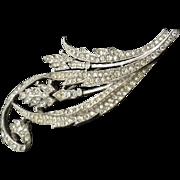 TRIFARI A. Philippe 1941 Amazing Fern stylized flower HUGe pin brooch