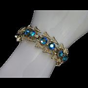 Glowing Blue-Green AB Rhinestone Bracelet