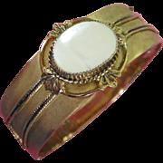 Vintage Whiting & Davis Mother of Pearl Bracelet