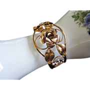 REDUCED Krementz Rose and Yellow Gold Cuff Bracelet ~ REDUCED!!