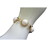 Vintage Monet White Thermoset Bracelet
