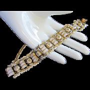 REDUCED Vintage Damascene and Mother of Pearl Bracelet ~ REDUCED!!!