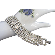 Weiss 6 Rows Crystal Clear Rhinestone Bracelet