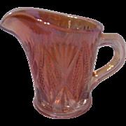 SALE Marigold Carnival Glass Creamer, Split Diamond Pattern, England