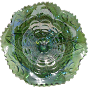 SALE Imperial Glass Emerald Green Compote Dish