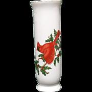 SALE Lefton Christmas Cardinal Small Holiday Vase