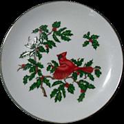 SALE Lefton Christmas Cardinal Holiday Plate Dish