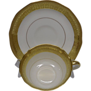 REDUCED Aynsley of England Elegant White and Gold Cup and Saucer