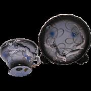 Vintage Japanese Dragonware Cup and Saucer Set