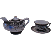 Japanese Dragonware Mini Teapot and Cup and Saucer Set