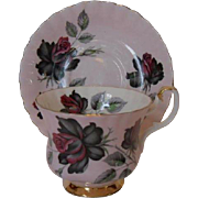Royal Albert of England Bone China Cup and Saucer with Roses