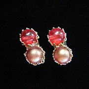 Vintage Marvella Faux Pearl Earrings