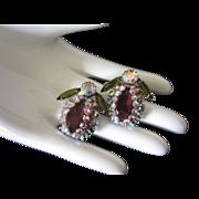 Incredible Designer Rhinestone Bug Insect Earrings
