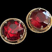 Accessocraft Ruby Red Rhinestone Earrings